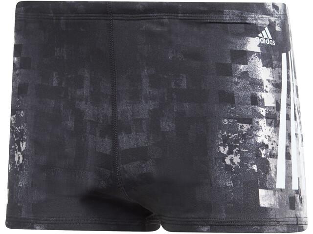 adidas Pro 3-Stripes AOP Zwemboxers Heren, black/ash grey